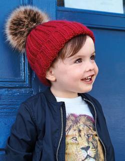 Kindermütze Infant Fur Pop Pom Chunky Beanie