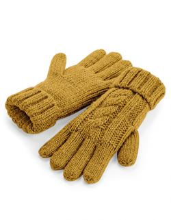 Handschuhe Cable Knit Melange Gloves