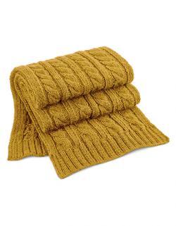 Schals Cable Knit Melange Scarf