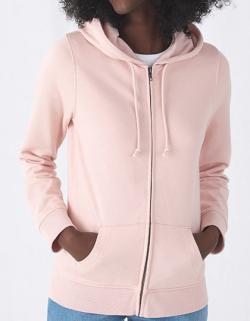 Organic Zipped Hood Jacket /Women, gekämmte Bio-Baumwolle