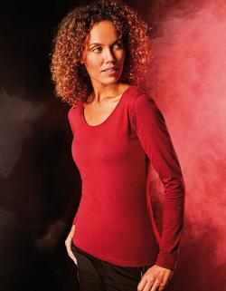 Damen T-Shirt Longsleeve, Single-Jersey