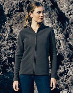 Damen Double Fleece Jacket, verdeckter Reißverschluss
