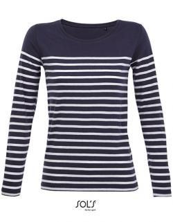 Damen Shirt Women´s Long Sleeve Striped T-Shirt Matelot