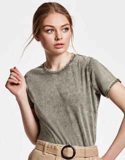 Damen Shirt Husky Woman T-Shirt, 100% gekämmte Baumwolle