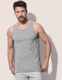 Herren Shirt Tank Top, Single-Jersey