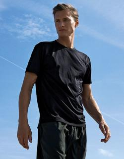 Herren Shirt,  Performance T-Shirt, 100 % recycelter Polyest
