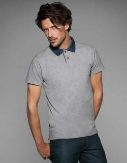 Herren Denim Poloshirt Forward / Men
