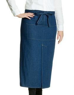 Jeans Bistro Apron with Split - Jeans Bistro Schürze