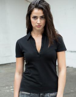 Damen Short Sleeve Stretch Poloshirt - WRAP