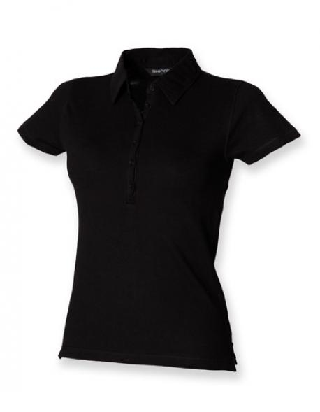 Damen Short Sleeve Stretch Poloshirt - WRAP