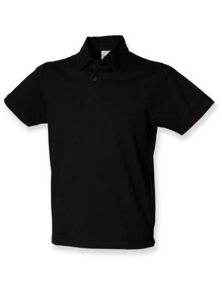 Mens Short Sleeve Stretch Poloshirt Herren - WRAP zert.