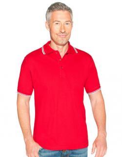 Men´s Poloshirt Contrast Stripes