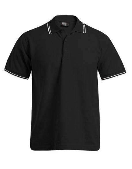 Men´s Poloshirt Contrast Stripes