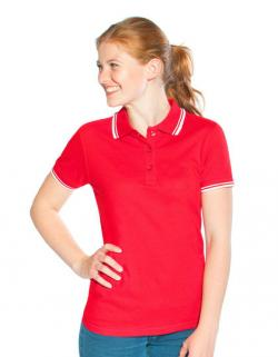 Women´s Poloshirt Contrast Stripes
