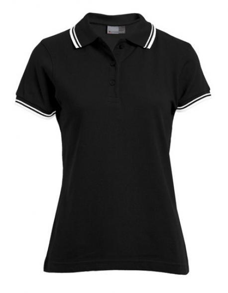 Women´s Poloshirt Contrast Stripes