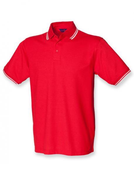 Tipped Piqué Herren Poloshirt 65/35
