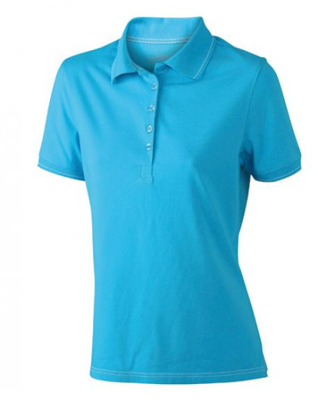 Damen Elastic Poloshirt