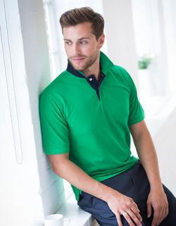 Men´s Contrast Pique Polo Shirt 65/35 - WRAP zertifiziert