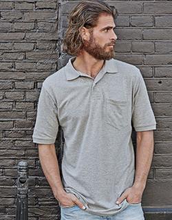 Herren Pocket Poloshirt Piqué - Waschbar bis 60 °C