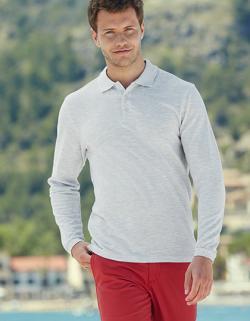 Herren Premium Long Sleeve Poloshirt