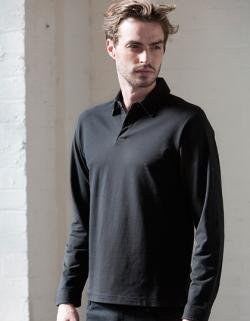 Mens Long Sleeve Stretch Poloshirt - WRAP zertifiziert