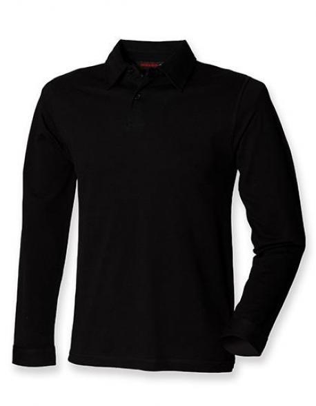 Mens Long Sleeve Stretch Poloshirt - WRAP zertifiziert