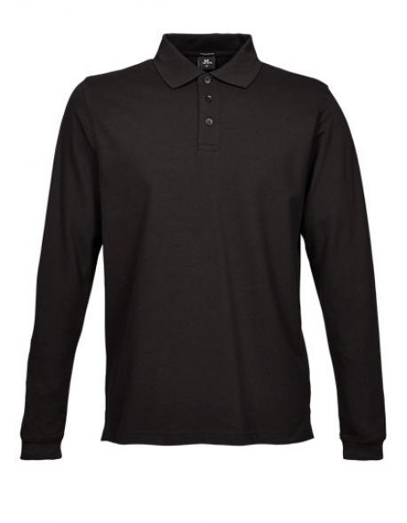 Mens Stretch Long Sleeve Poloshirt