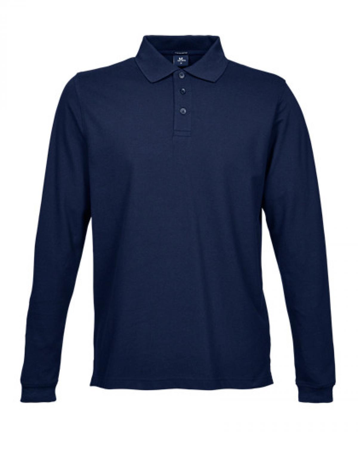 Mens stretch long sleeve poloshirt rexlander s for Stretch polo shirt mens
