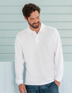 Herren Longsleeve Classic Cotton Poloshirt