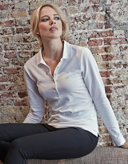 Ladies Stretch Long Sleeve Poloshirt