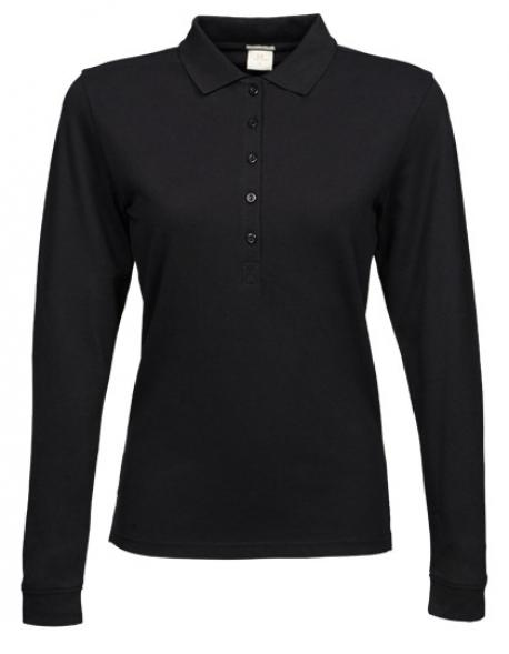 Ladies Stretch Long Sleeve Poloshirt