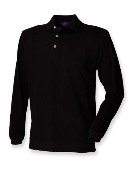Herren Classic Longsleeve Piqué-Poloshirt - WRAP