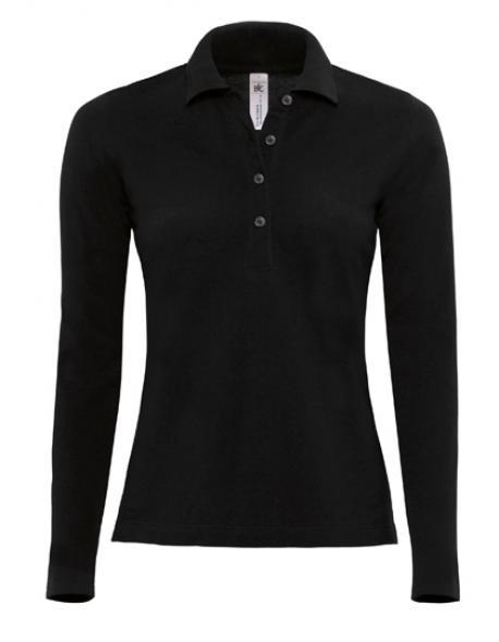 Poloshirt Safran Pure Longsleeve / Women