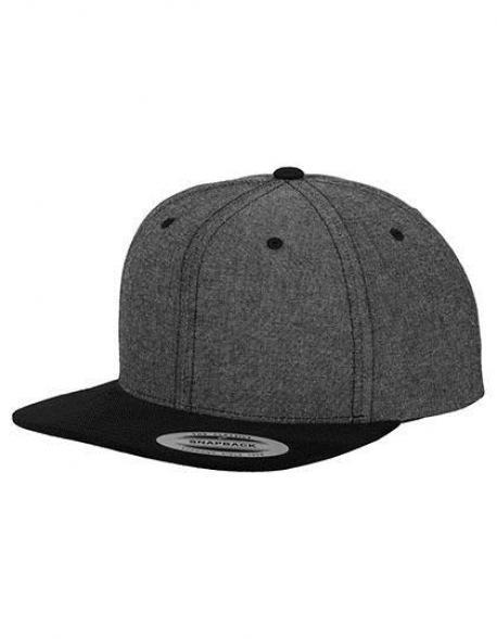 Chambray-Suede Snapback Cap / Kappe / Mütze / Hut