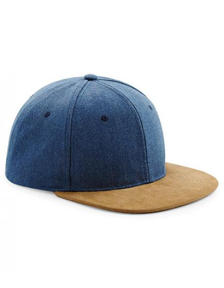 Suede Peak Snapback Cap / Kappe / Mütze / Hut