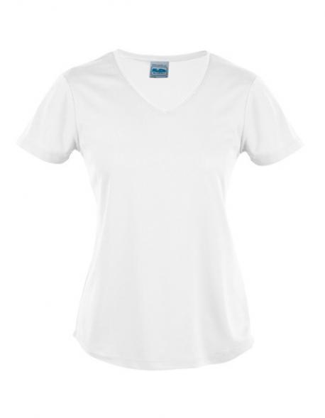 Damen Sport T-Shirt V Neck Cool + Zertifiziert nach WRAP