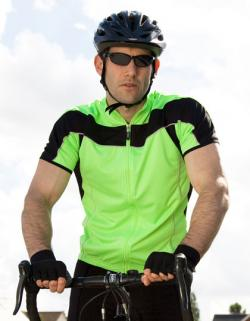 Mens Bikeshirt Full Zip Performance + COOL DRY Gewebe