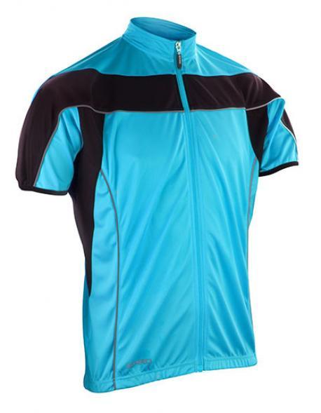 Mens Bikeshirt Full Zip Performance + COOL DRY Gewebe