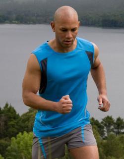 Sport Athletic Vest + leichtes, ärmelloses Sport T-Shirt
