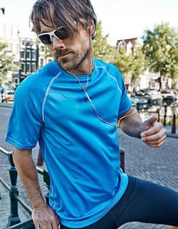 Mens Performance Sport T-Shirt + Atmungsaktiv