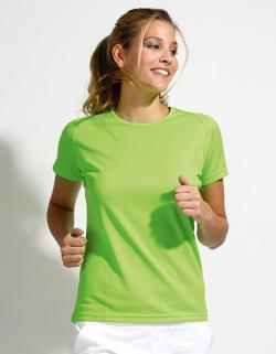 Damen Raglan Sport T-Shirt + Längerer Rücken