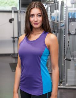 Damen Cool Contrast Tank Top Sport T-Shirt + WRAP zert.