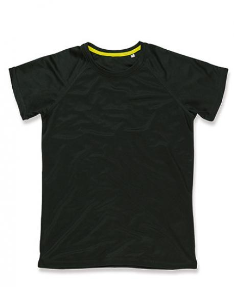 Damen Active 140 Raglan Sport T-Shirt + Active-Dry Polyester
