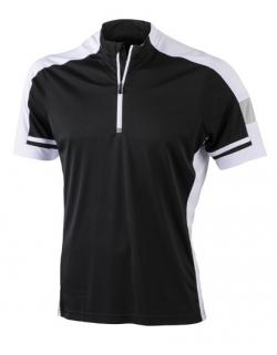 Men´s Bike Sport T-Shirt Half Zip + Cooldry