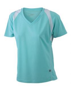 Damen Running Sport T-Shirt + Atmungsaktives Laufshirt