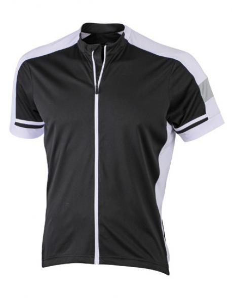 Men´s Bike / Sport T-Shirt Full Zip mit Reißverschluss