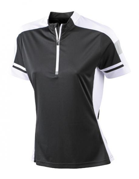 Damen Bike und Sport T-Shirt + Reißverschluss mit Kinnschutz
