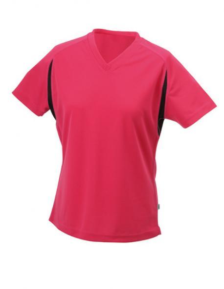 Damen Running Sport T-Shirt + Atmungsaktiv