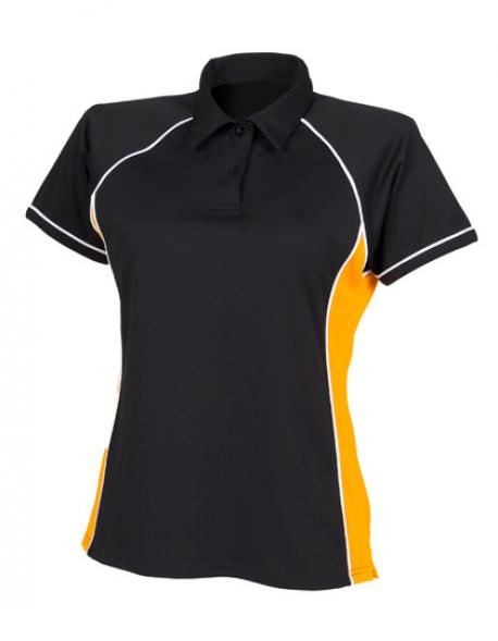 Ladies Piped Performance Damen Poloshirt
