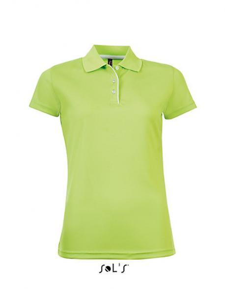 Womens Sports Damen Poloshirt Performer